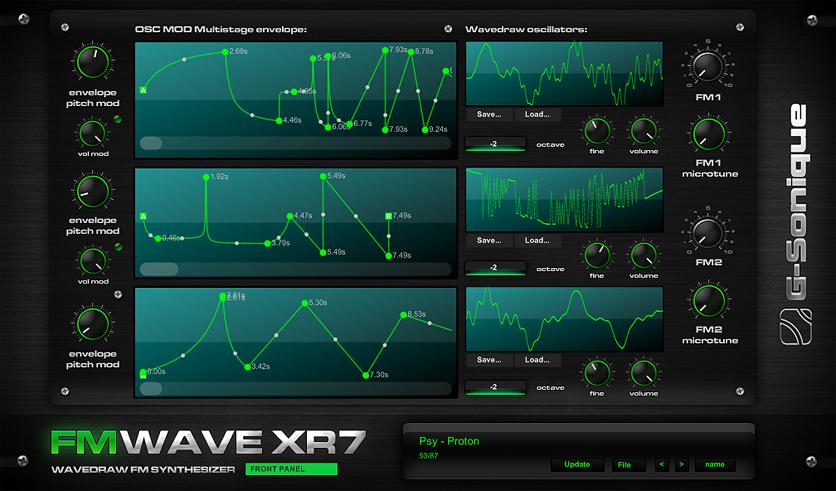 G-Sonique FM Wave XR7 wavedraw synthesizer x32/x64bit RELEASED!