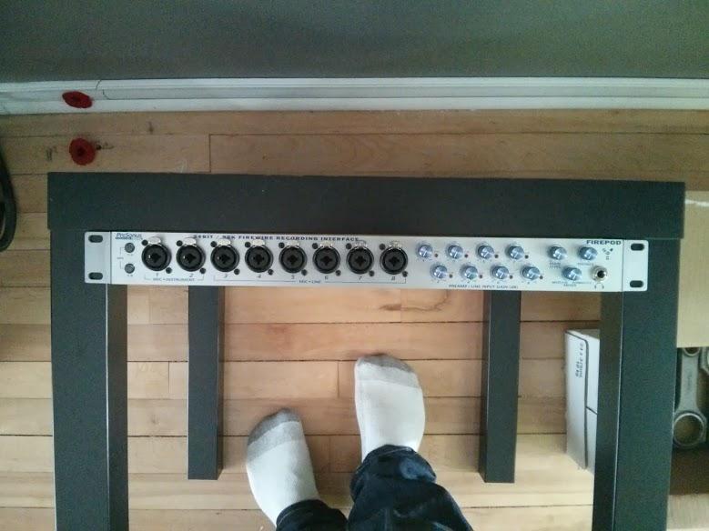 """DIY 19"""" Rack, Ikea Lack Table - Gearslutz"""