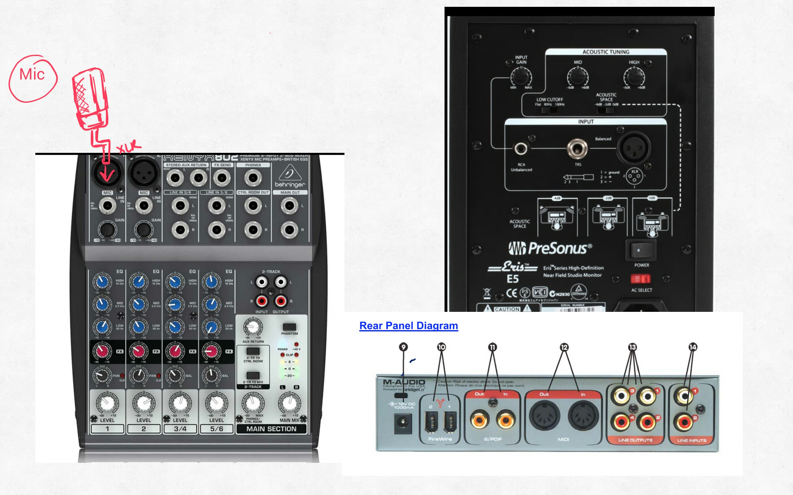 How to cable/connect mixer to sound card & speakers - Gearslutz ...