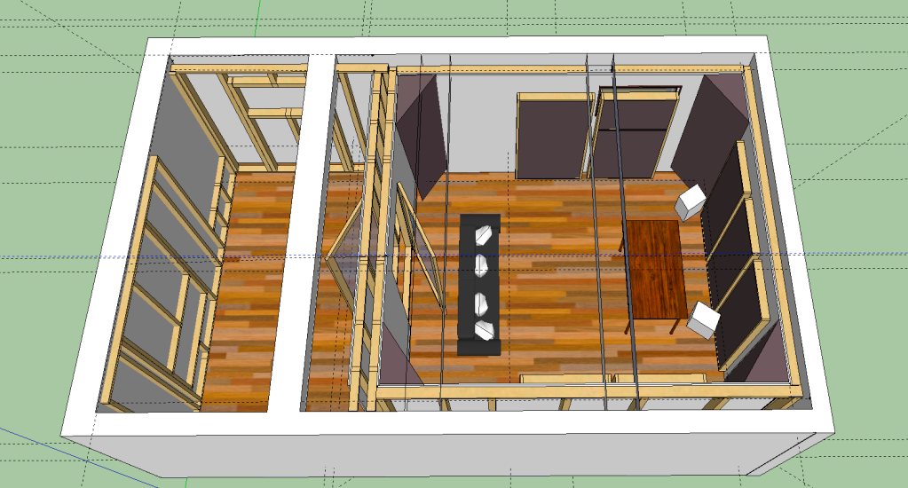 Help build home recording studio detail inside for Small recording studio plans