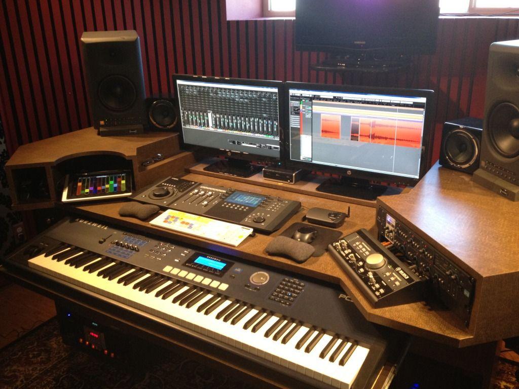 finally building my new studio desk gearslutz pro audio community. Black Bedroom Furniture Sets. Home Design Ideas
