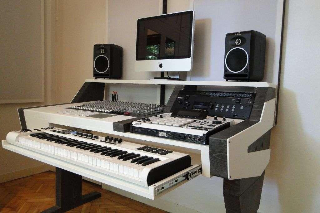 diy fully custom built studio desk b w