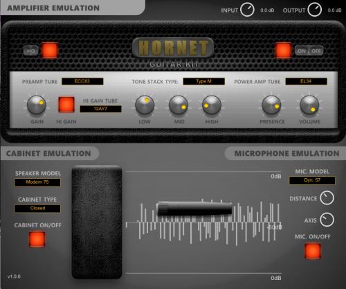HoRNet releases Guitar Kit, amp, cabinet and mic simulator